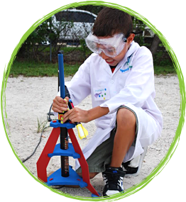 A Child Does a Fun Science Experiment