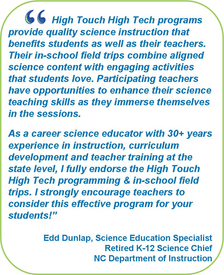 High Touch High Tech: In-Class Field Trips | Middle School